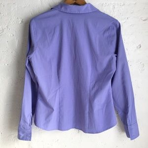 Style & Co Tops - Style & Co. periwinkle stretchy button down shirt